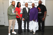 "(L-R) Sybrina Fulton, Jussie Smollett, Al Sharpton, Judith Jamison and Tracy Martin attend the Screening And Panel For ""Rest In Power: The Trayvon Martin Story"" at The Apollo Theater on July 29, 2018 in New York City."