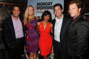 (L-R) Dr. Sanjay Gupta, actresses Jennifer Finnigan and Sarayu Rao, President, Head of Programming for TNT, TBS and Turner Classic Movies Michael Wright, and actor Jamie Bamber attend the screening of TNT's 'Monday Mornings' at BOA Steakhouse on January 24, 2013 in West Hollywood, California.