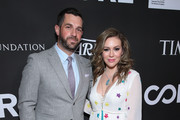Dave Bugliari and Alyssa Milano attend the 10th Anniversary Gala Benefiting CORE hosted by Sean Penn, Bryan Lourd And Vivi Nevo at Wiltern Theatre on January 15, 2020 in Los Angeles, California.