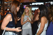 """(L-R) TV Personality Julia Allison, executive producer Ashley Tisdale and TV personality Emily Morse attend the season premiere viewing party of Bravo's """"Miss Advised"""" hosted by Executive Producer Ashley Tisdale held at Planet Dailies & Mixology 101 on June 18, 2012 in Los Angeles, California."""