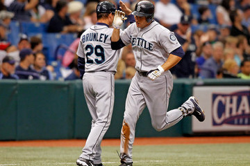 Mike Sweeney Mike Brumley Seattle Mariners v Tampa Bay Rays