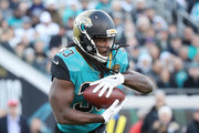 Chris Ivory #33 of the Jacksonville Jaguars runs with the football during the second half of their game against the Seattle Seahawks at EverBank Field on December 10, 2017 in Jacksonville, Florida.