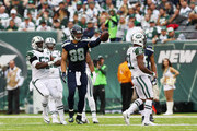 Jimmy Graham #88 of the Seattle Seahawks celebrates a first down in the first half against the New York Jets at MetLife Stadium on October 2, 2016 in East Rutherford, New Jersey.