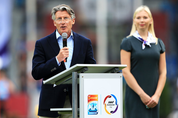 IAAF Continental Cup - Day 1 [job,event,speech,white-collar worker,official,gesture,business,public speaking,sebastian coe,crowd,ostrava,czech republic,mestsky stadium,iaaf,continental cup,iaaf continental cup]