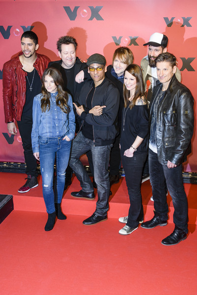 'Sing meinen Song' Photocall [sing meinen song,photocall,social group,red,event,red carpet,youth,premiere,carpet,flooring,performance,yvonne catterfeld,andreas bourani,hartmut engler,xavier naidoo,christina stuermer,front row,row,photocall]