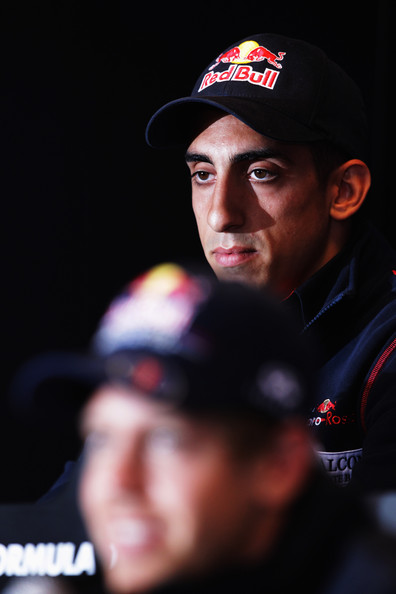 Sebastien Buemi Sebastien Buemi of Switzerland and Scuderia Toro Rosso attends the drivers press conference during previews to the Belgian Formula One Grand Prix at the Circuit of Spa Francorchamps on August 25, 2011 in Spa Francorchamps, Belgium.