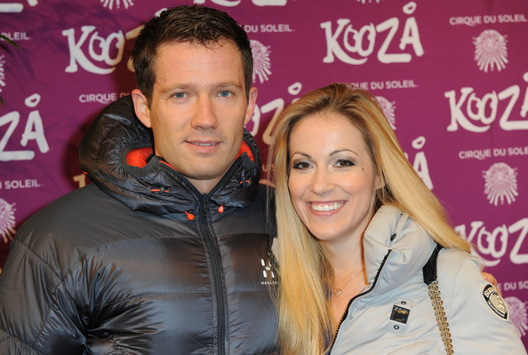 Andrea Kaiser with friendly, handsome, Husband Sebastien Ogier