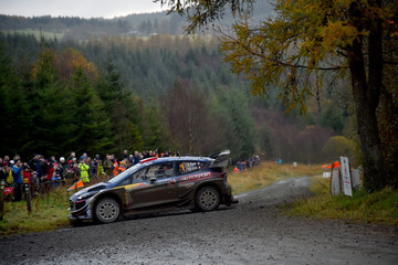 Sebastien Ogier FIA World Rally Championship Great Britain - Day Two