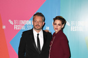 """Benedict Andrews and Kristen Stewart attend the """"Seberg"""" screening during the 63rd BFI London Film Festival at BFI Southbank on October 04, 2019 in London, England."""