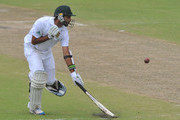 Imran Tahir of South Africa survives a quick single during Day Two of the second Sunfoil Test match between South Africa and Sri Lanka at Sahara Park Kingsmead on December 27, 2011 in Durban, South Africa.