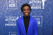 Caleb McLaughlin attends the SeeHer platform at the 26th annual Screen Actors Guild Awards. @seeHER2020 at The Shrine Auditorium on January 19, 2020 in Los Angeles, California.
