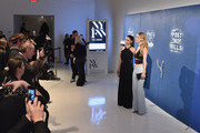(L-R) Miss Universe 2015 Pia Wurtzbach and  Miss USA 2015 Olivia Jordan attend the Alice + Olivia By Stacey Bendet - at The Gallery, Skylight at Clarkson Sq on February 16, 2016 in New York City.