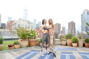Megan Roup and Kate Bock attend the Tory Burch Rooftop Workout on the NYFW Roof Lounge at New York Fashion Week: The Shows - Day 7 at Spring Studios on September 10, 2019 in New York City.