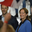 Segolene Royal Presidential Candidate Emmanuel Macron Holds a Rally Meeting at Paris Event Center