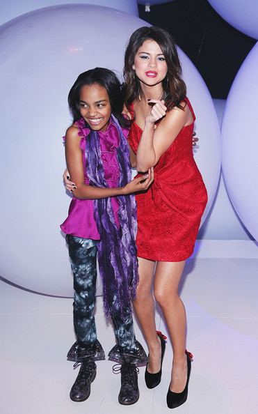 Selena Gomez Actresses China Anne McClain (L) and Selena Gomez attend the 2011 Disney Kids & Family upfront at Gotham Hall on March 16, 2011 in New York City.