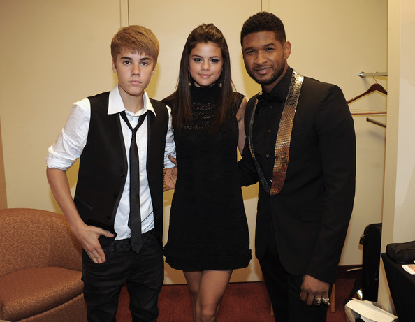 Selena Gomez ****EXECUTIVE COVERAGE**** Justin Bieber, Selena Gomez and Usher Raymond backstage at the 33rd Annual Georgia Music Hall Of Fame Awards at the Cobb Energy Performing Arts Center on September 17, 2011 in Atlanta, Georgia.