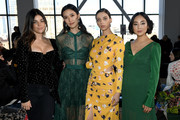 Julia Restoin Roitfeld; Tao Okamoto, Angela Sarafyan and Greta Lee attend the Self-Portrait front row during New York Fashion Week: The Shows at Spring Studios on February 9, 2019 in New York City.