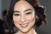 Actor Greta Lee attends the Self-Portrait front row during New York Fashion Week: The Shows at Gallery I at Spring Studios on February 9, 2019 in New York City.