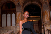 Flaviana Matata attends the Self-Portrait front row during New York Fashion Week: The Shows on September 07, 2019 in New York City. (Photo by Jason Mendez/Getty Images for NYFW: The Shows)