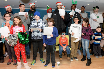Semi Ojeleye Boston Celtics Sing Holiday Favorites With Patients at Annual Boston Children's Hospital Holiday Visit