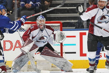 Semyon Varlamov Colorado Avalanche v Toronto Maple Leafs