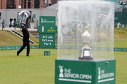 Thaworn Wiratchant of Thailand plays his first shot on the 1st tee during the Final Round on Day Four of The Senior Open Presented by Rolex at The Old Course on July 29, 2018 in St Andrews, Scotland.