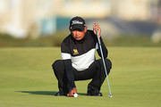 Thaworn Wiratchant of Thailand lines up his putt on the 16th green during Day One of The Senior Open Presented by Rolex at The Old Course on July 26, 2018 in St Andrews, Scotland.
