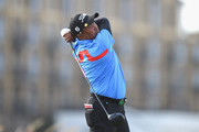 Thaworn Wiratchant of Thailand plays his first shot on the 18th tee during Day Two of The Senior Open Presented by Rolex at The Old Course on July 27, 2018 in St Andrews, Scotland.