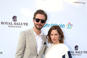 Dan Stevens and Sienna Guillory, Royal Salute ambassadors, attend The Sentebale Polo Cup presented by Royal Salute World Polo at Ghantoot Polo Club on November 20, 2014 in Abu Dhabi, United Arab Emirates.