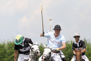Prince Harry battles for the ball with Rico Mansur plays polo for the Sentebale team against the St Regis team at the Sentebale Royal Salute Polo Cup 2012 on March 11, 2012 in Campinas, Sao Paulo State, Brazil. The 2012 Sentebale Royal Salute Polo Cup closes Prince Harry's Official Tour of Brazil. Sentebale was founded by Prince Harry and Prince Seeiso from the Lesotho Royal family in response to the plight of the neediest and most vulnerable of Lesotho's children.