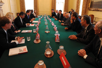 Geoff Thompson Sepp Blatter Meets With David Cameron And Members Of England 2018 Bid Team