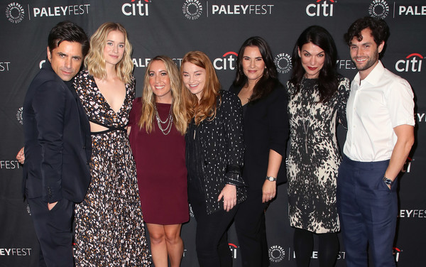 The Paley Center For Media's 2018 PaleyFest Fall TV Previews - Lifetime - Arrivals [paleyfest fall tv previews,event,premiere,arrivals,sera gamble,gina girolamo,sarah schechter,caroline kepnes,elizabeth lail,john stamos,l-r,paley center for media]
