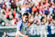 Sacha Kljestan #16 of the United States dribbles the ball against Serbia in the first half of the match at Qualcomm Stadium on January 29, 2017 in San Diego, California.