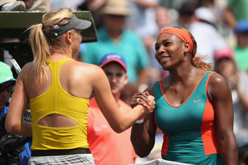 Serena Williams Maria Sharapova Sony Open: Day 11