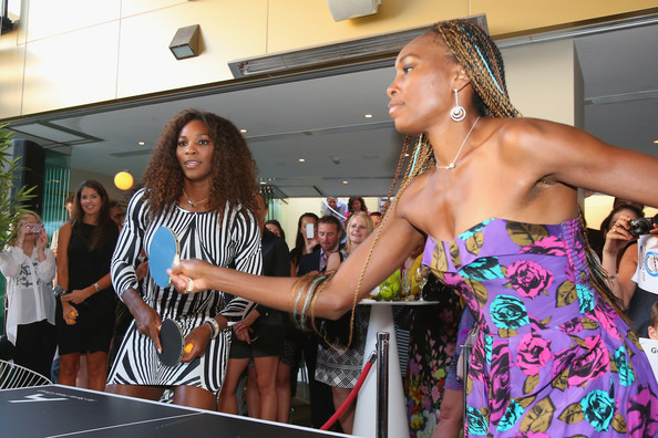 Williams Sisters Tennis Photos http://www.zimbio.com/pictures/F3y52ygCaqY/Williams+Sisters+Table+Tennis+Play+Off/HGyzn8_Vn4p/Serena+Williams
