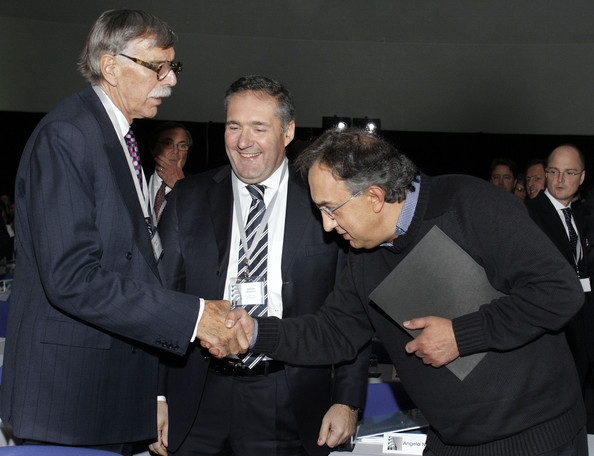 Sergio Marchionne (R) Chrysler Group LLC Chief Executive Officer and Fiat