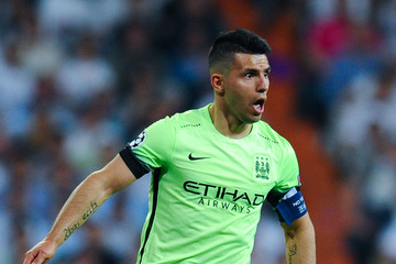 Sergio Aguero Real Madrid v Manchester City FC - UEFA Champions League Semi Final: Second Leg