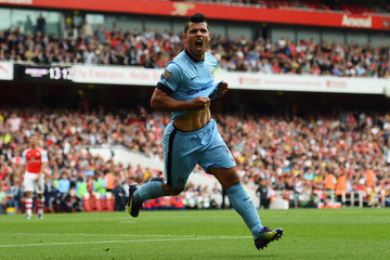 Sergio Aguero Arsenal v Manchester City - Premier League