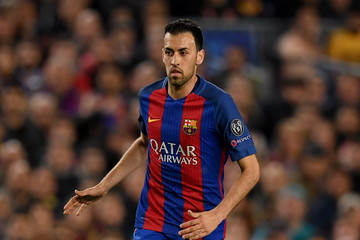 Sergio Busquets FC Barcelona v Juventus - UEFA Champions League Quarter Final: Second Leg