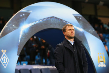 Serhiy Rebrov Manchester City FC v FC Dynamo Kyiv - UEFA Champions League Round of 16: Second Leg