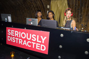 (L-R) DJs Dren, Angel and Harley Viera-Newton attend the 'Seriously Distracted' launch party at 1OAK on October 20, 2014 in New York City.
