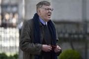 Writer Alan Bennett arrives for a Service of Thanksgiving for the life and work of Lord Snowdon at Westminster Abbey on April 7, 2017 in London, United Kingdom.