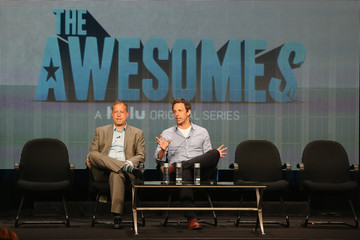 Seth Meyers Michael Shoemaker 2013 Summer TCA Tour - Day 8