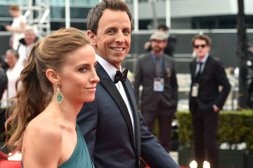 Seth Meyers Arrivals at the 66th Annual Primetime Emmy Awards