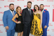 (L-R) HFC Board Members Raffi Adlan, Tum Cohl, Seth Rogen, Lauren Miller and HFC board member Matthew Bass attend Seth Rogen's Hilarity For Charity at Hollywood Palladium on March 24, 2018 in Los Angeles, California.