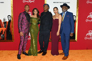 "(L-R) Jessie T. Usher, Regina Hall, Samuel L. Jackson, Alexandra Shipp and Richard Roundtree attend the ""Shaft"" premiere at AMC Lincoln Square Theater on June 10, 2019 in New York City."