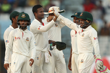 Shakib Al Hasan Bangladesh v Australia - 2nd Test: Day 3