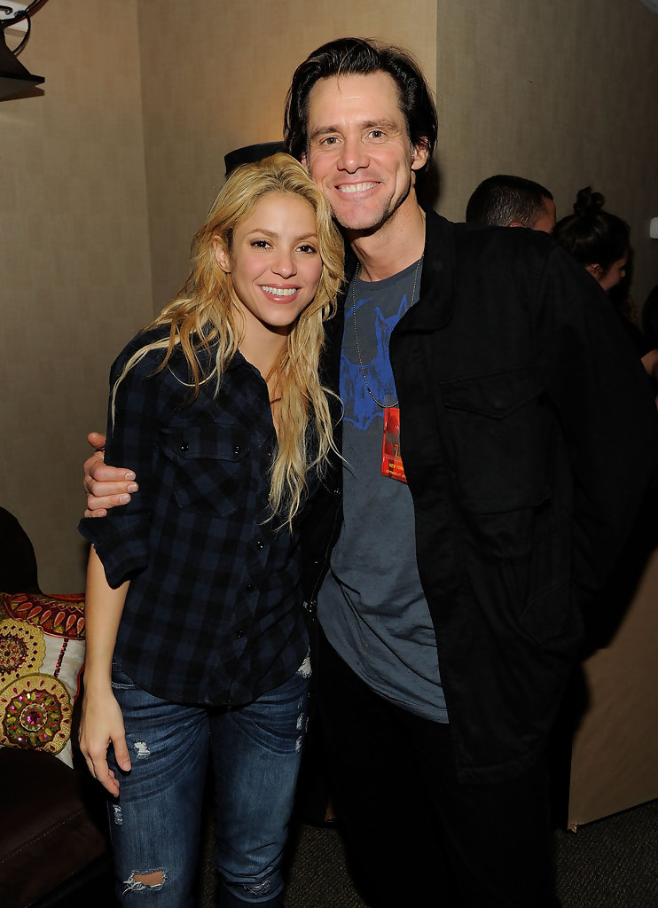 Photo of Jim Carrey & his friend musician  Shakira - Longtime