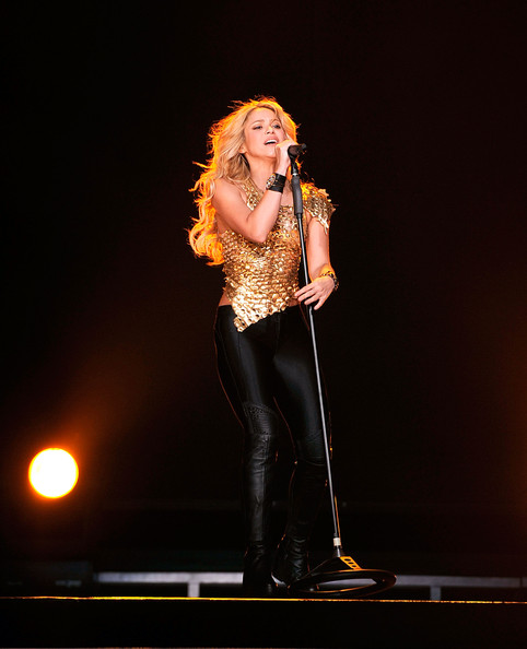 Shakira Shakira performs at Madison Square Garden on September 21, 2010 in New York, New York.