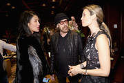 Christina Sands, Larry Sands and Goga Ashkenazi attend Shamballa Eyewear cocktail during Milan Fashion Week FW16 at Hotel Principe di Savoia on February 27, 2016 in Milan, Italy.